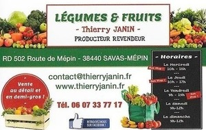 LEGUMES ET FRUIT